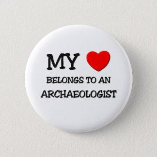 My Heart Belongs To An ARCHAEOLOGIST Button