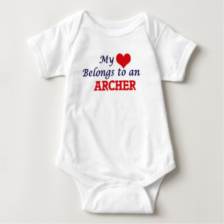 My Heart Belongs to an Archer Baby Bodysuit