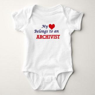 My Heart Belongs to an Archivist Baby Bodysuit