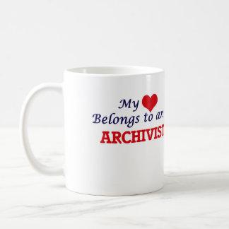 My Heart Belongs to an Archivist Coffee Mug