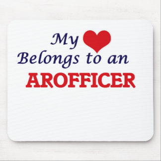My Heart Belongs to an Arofficer Mouse Pad