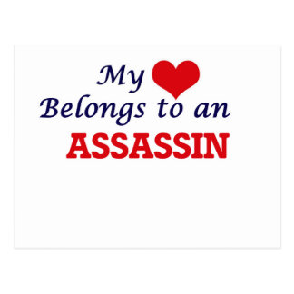 My Heart Belongs to an Assassin Postcard