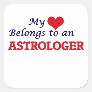 My Heart Belongs to an Astrologer Square Sticker