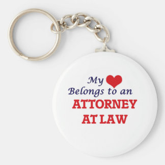 My Heart Belongs to an Attorney At Law Keychain