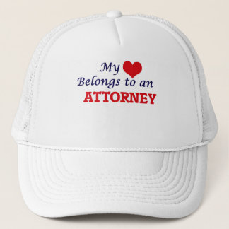 My Heart Belongs to an Attorney Trucker Hat