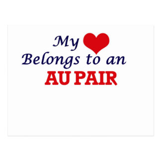 My Heart Belongs to an Au Pair Postcard