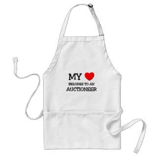 My Heart Belongs To An AUCTIONEER Adult Apron