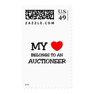 My Heart Belongs To An AUCTIONEER Postage Stamp