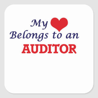 My Heart Belongs to an Auditor Square Sticker