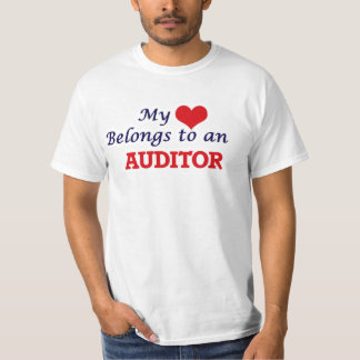 My Heart Belongs to an Auditor T-Shirt