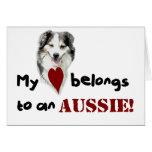 My heart belongs to an Aussie! Cards