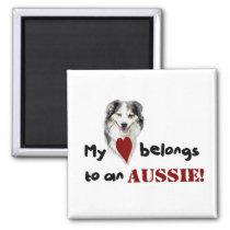 My heart belongs to an Aussie! Magnet