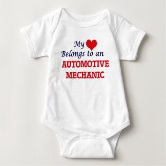 My Heart Belongs to an Automotive Mechanic Baby Bodysuit