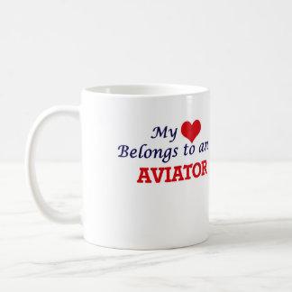 My Heart Belongs to an Aviator Coffee Mug