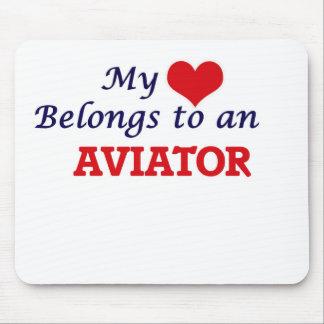 My Heart Belongs to an Aviator Mouse Pad