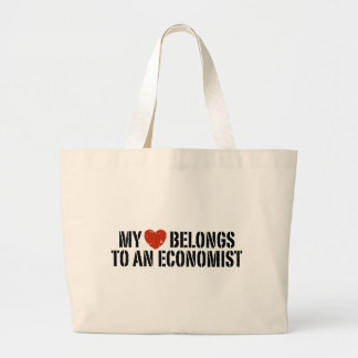 My Heart Belongs To An Economist Large Tote Bag
