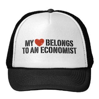 My Heart Belongs To An Economist Trucker Hats