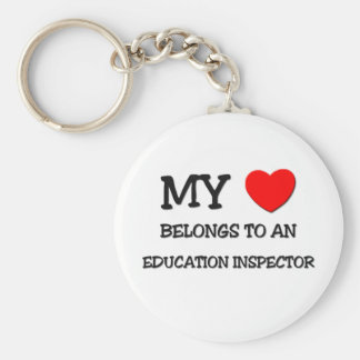 My Heart Belongs To An EDUCATION INSPECTOR Basic Round Button Keychain