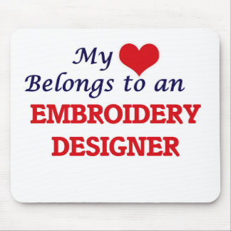 My Heart Belongs to an Embroidery Designer Mouse Pad
