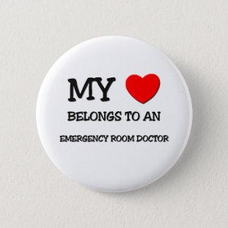 My Heart Belongs To An EMERGENCY ROOM DOCTOR Pinback Button