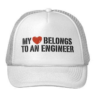My Heart Belongs To an Engineer Trucker Hats
