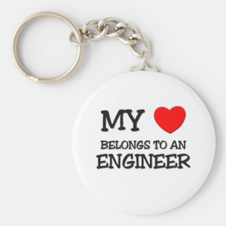 My Heart Belongs To An ENGINEER Keychains