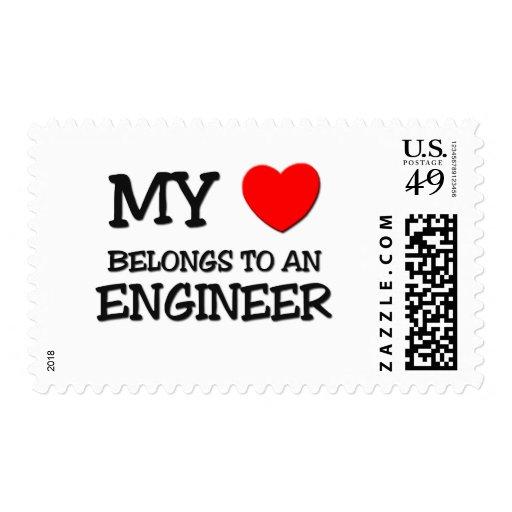 My Heart Belongs To An ENGINEER Postage Stamp