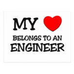 My Heart Belongs To An ENGINEER Postcard