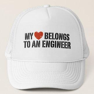 My Heart Belongs To an Engineer Trucker Hat