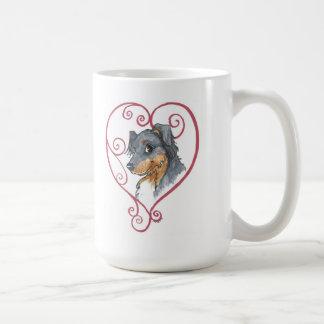 My heart belongs to an English Shepherd Classic White Coffee Mug