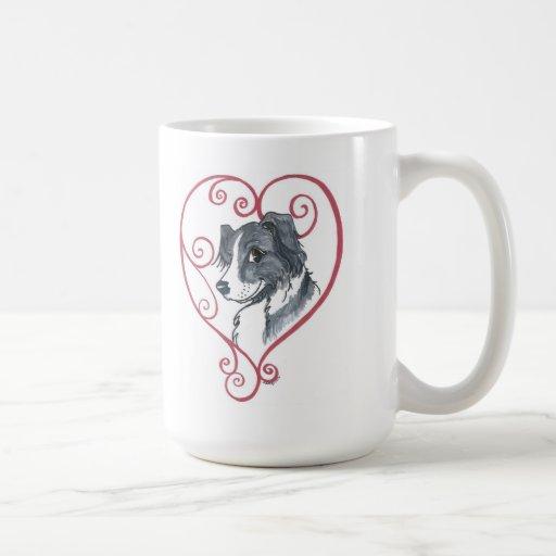 My heart belongs to an English Shepherd Mug