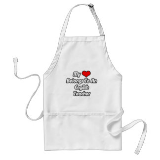 My Heart Belongs To An English Teacher Apron