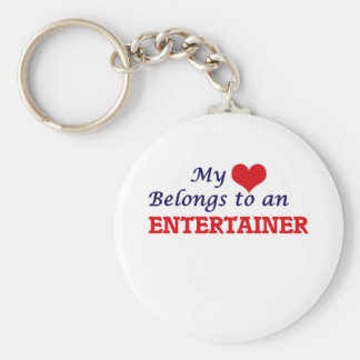 My Heart Belongs to an Entertainer Keychain