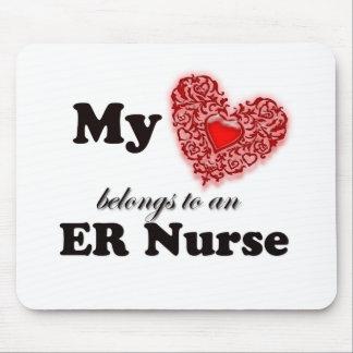 My Heart Belongs To An ER Nurse Mouse Pad
