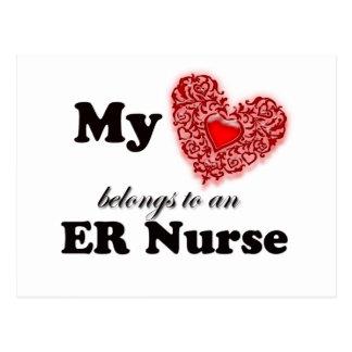 My Heart Belongs To An ER Nurse Postcard
