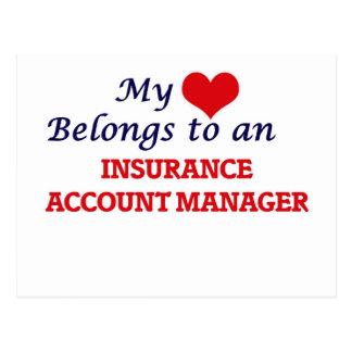 My Heart Belongs to an Insurance Account Manager Postcard
