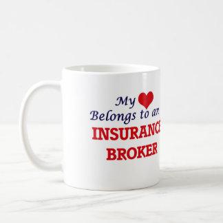 My Heart Belongs to an Insurance Broker Coffee Mug