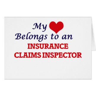 My Heart Belongs to an Insurance Claims Inspector Card