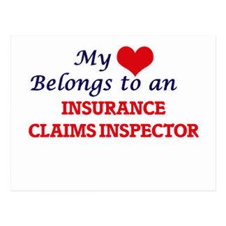 My Heart Belongs to an Insurance Claims Inspector Postcard