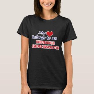My Heart Belongs to an Insurance Claims Inspector T-Shirt