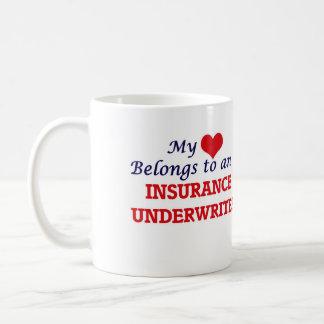 My Heart Belongs to an Insurance Underwriter Coffee Mug