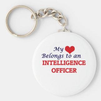 My Heart Belongs to an Intelligence Officer Keychain