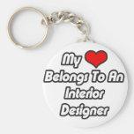 My Heart Belongs To An Interior Designer Keychain