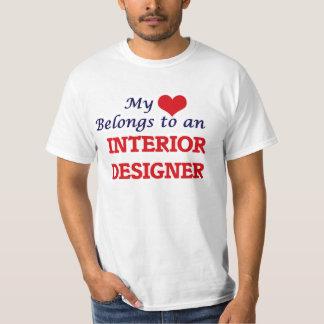 My Heart Belongs to an Interior Designer T-Shirt