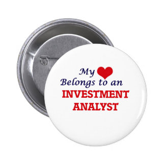 My Heart Belongs to an Investment Analyst Button