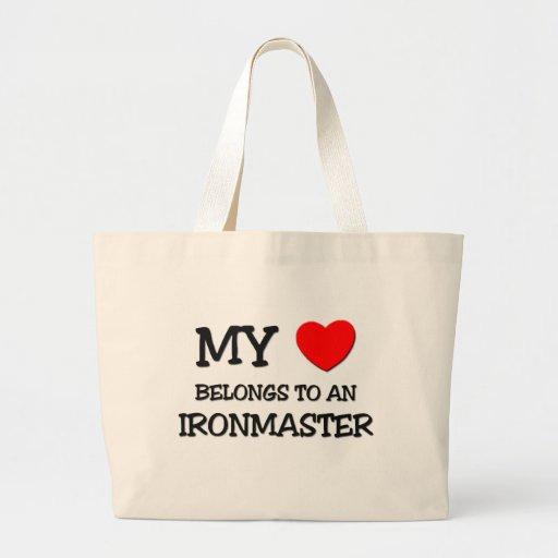 My Heart Belongs To An IRONMASTER Jumbo Tote Bag