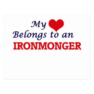 My Heart Belongs to an Ironmonger Postcard