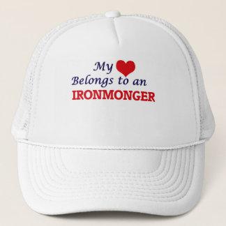 My Heart Belongs to an Ironmonger Trucker Hat