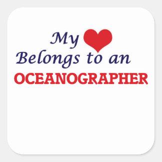 My Heart Belongs to an Oceanographer Square Sticker