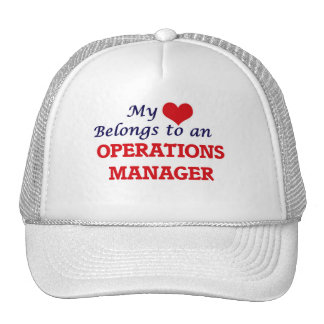 My Heart Belongs to an Operations Manager Trucker Hat